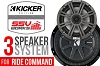 Polaris RZR XP 1000 complete Kicker 3 speaker Plug-and-Play kit for Polaris Ride Command Systems