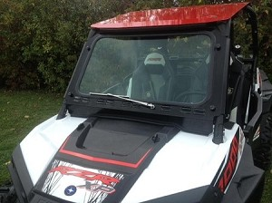 RZR XP1000 and 2015-17 RZR 900, 2017 RZR-S 1000 Laminated Safety Glass Windshield with Wiper