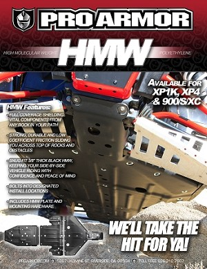 "Pro Armor 3/8"" HMW Skid Protection For RZR XP1000 / 900S"